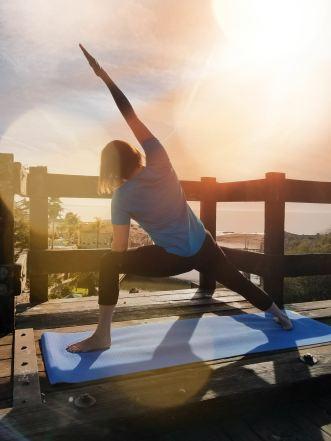 becky yoga bridge